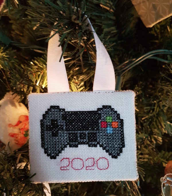 Cross stitch playstation remote | DevotedQuilter.com