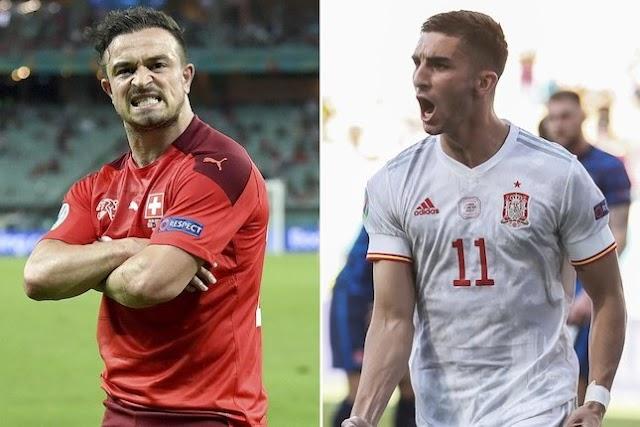 90 Menit Swiss vs Spanyol Berakhir imbang 1-1