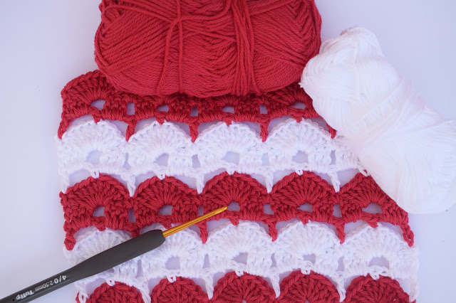 1 - Crochet Imagen Puntada de abanicos para blusas y jerseys por Majovel Crochet