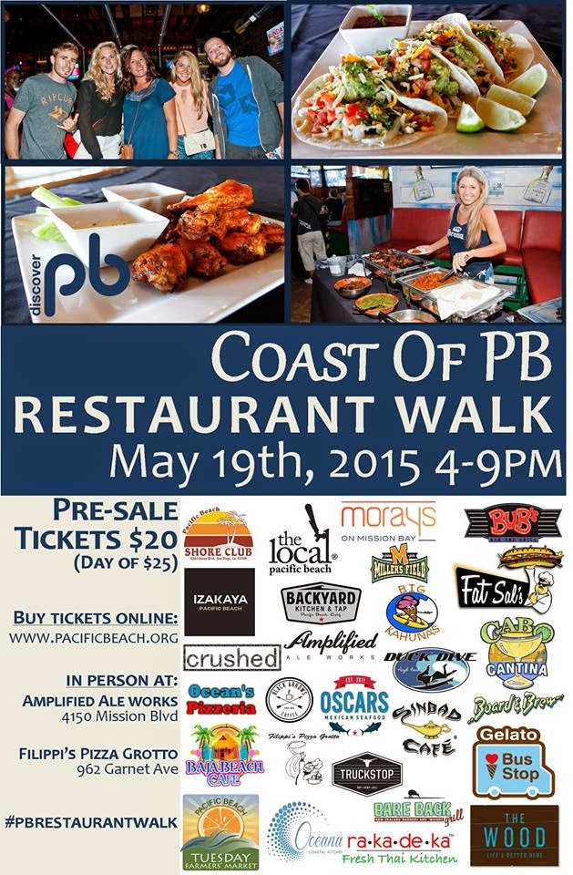 Experience The Best Of Beach At Annual Coast Pacific Restaurant Walk On Tuesday May 19 Enter To Win 2 Tickets
