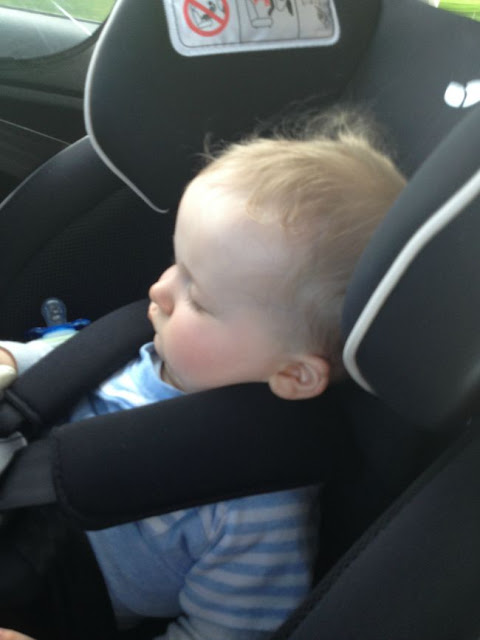 baby asleep in carseat