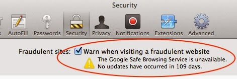 Google Safe Browsing Service is Unavailable