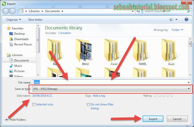 Cara Export File Corel CDR Ke JPG PNG Dengan Cepat