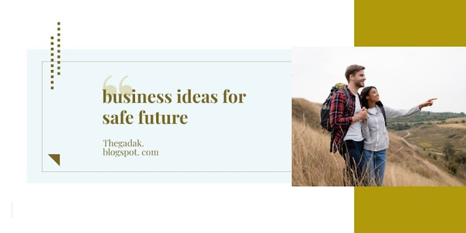 BUSSINESS  IDEAS FOR SAFE FUTURE
