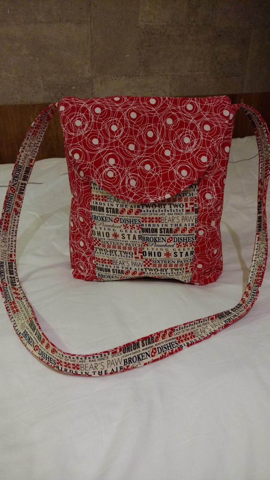 Cross Body Bag Pattern Simple Decoration