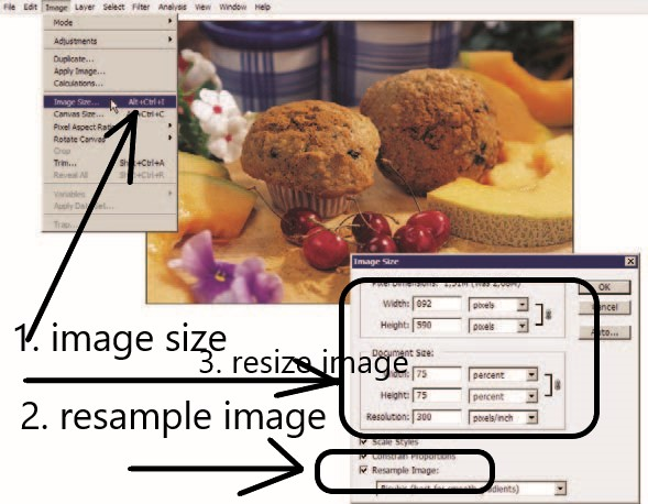 how to reseize an image in photoshop