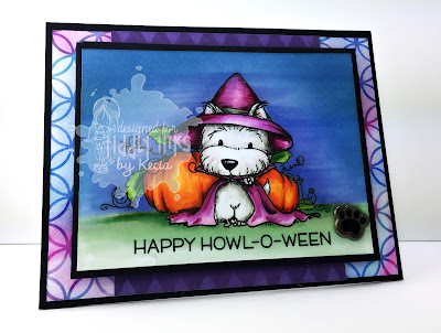 Tiddly Inks, Kecia Waters, Copic markers, puppy, Halloween, Howl-o-ween