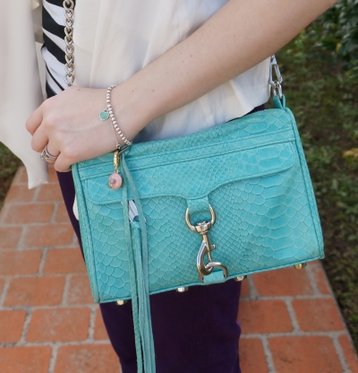 away from the blue purple skinnies rebecca minkoff mini mac aquamarine python snake print silver hardware