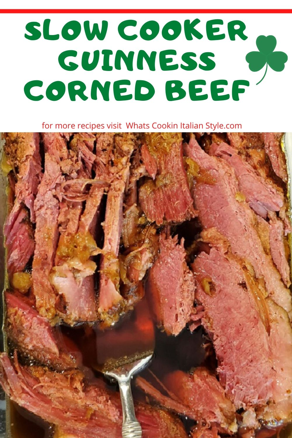 this is a recipe for how to make corned beef in the slow cooker with guinness beer