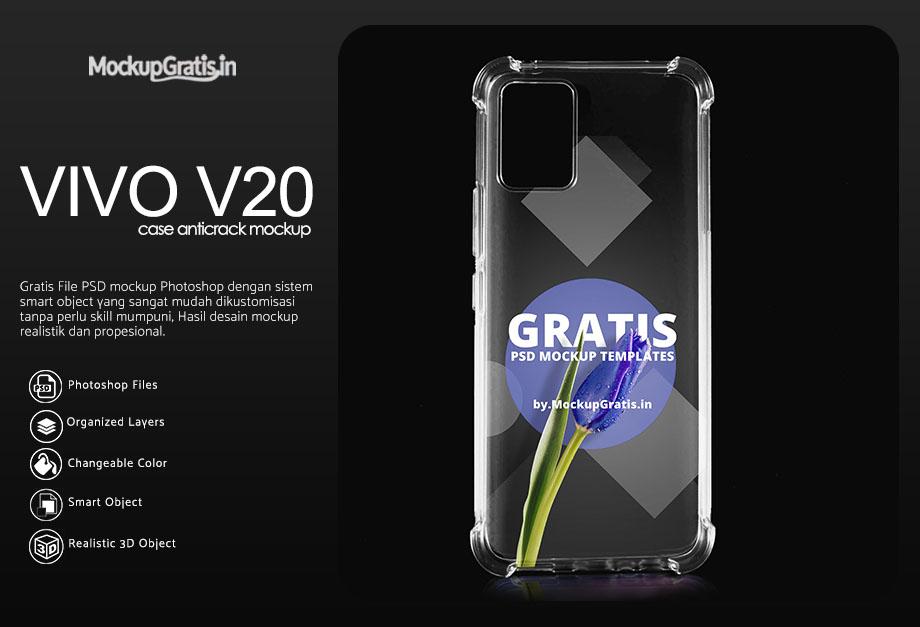 Mockup Case Anticrack VIVO V20
