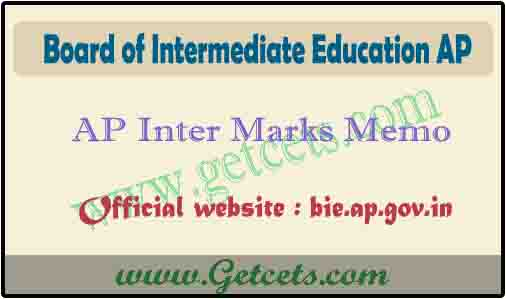 AP Intermediate marks memo 2020-2021 download for 1st & 2nd year