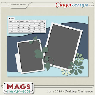 June 2016 Desktop Challenge by Mags Graphics