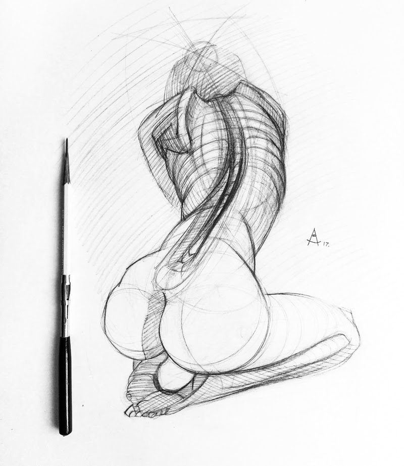 Sketches by Andrey Samarin from Stavropol, Russia.