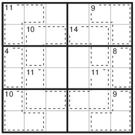Fácil de leer libertad Inconveniencia  Puzzle#102: Killer Sudoku 6x6