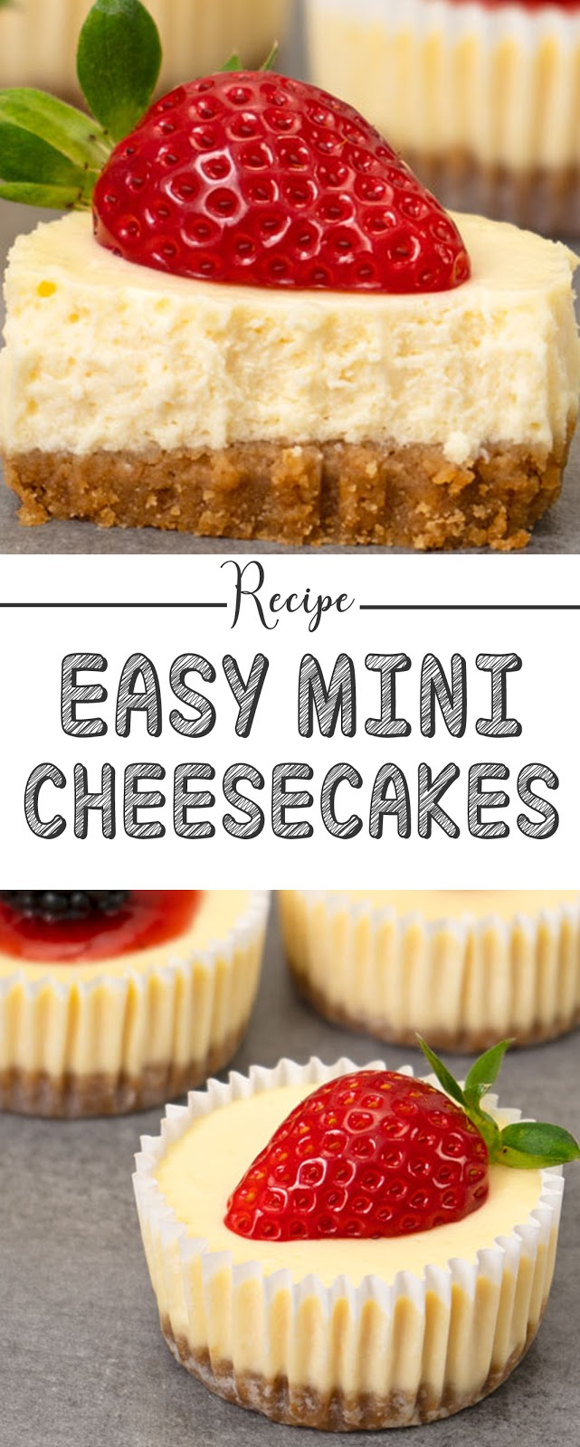 Recipe Easy Mini Cheesecakes #cheesecakes #cake