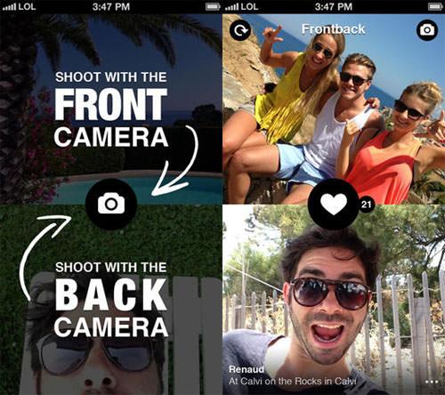 افضل 3 تطبيقات للتصوير بالكاميرا الأمامية والخلفية للهاتف في نفس الوقت