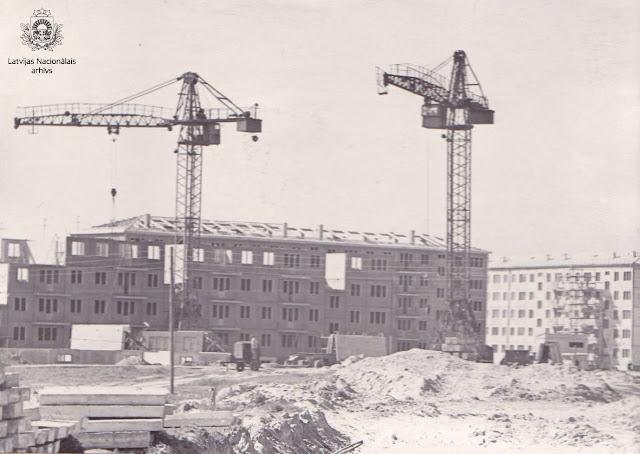 1962 год. Рига. Югла. Строительство жилого массива