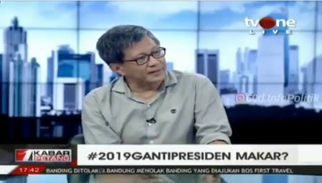 Rocky Gerung: Konyol Pemerintah Melarang #2019GantiPresiden, Justru Makin Membesar