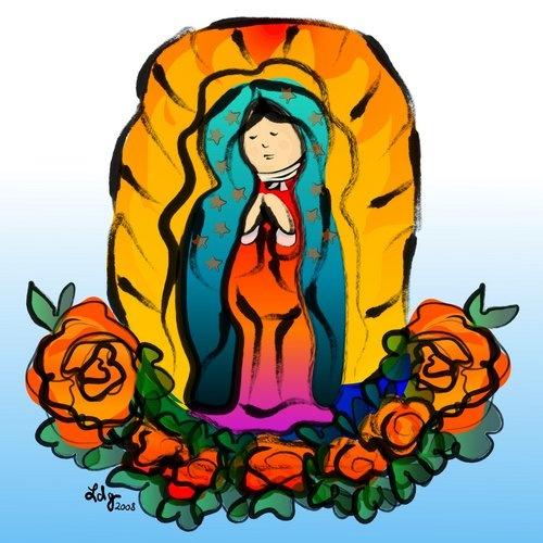 Virgen De Guadalupe En Caricatura Para Niñas Imagui Imagui