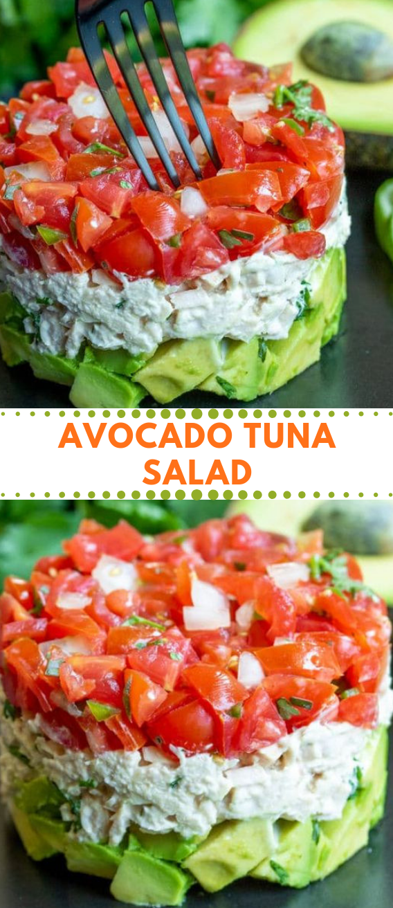 AVOCADO TUNA SALAD RECIPE #easy #recipes #tuna #avocado #healthy