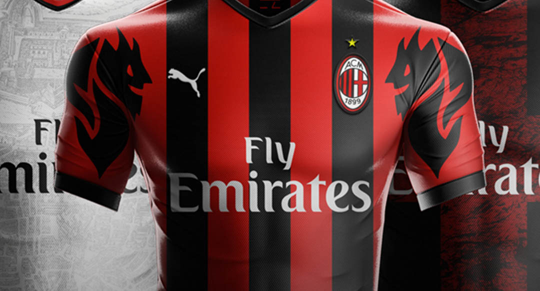 ... the contract with long-term kit supplier Adidas was prematurely  canceled. Graphic designer EZ Design has created three unique Puma AC Milan  jerseys. 18803ba403f9f