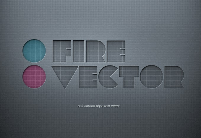 Sunken Soft Carbon Style PSD text effect free