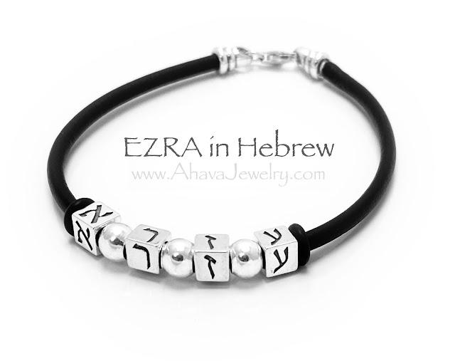 EZRA in Hebrew (Hebrew block letters)