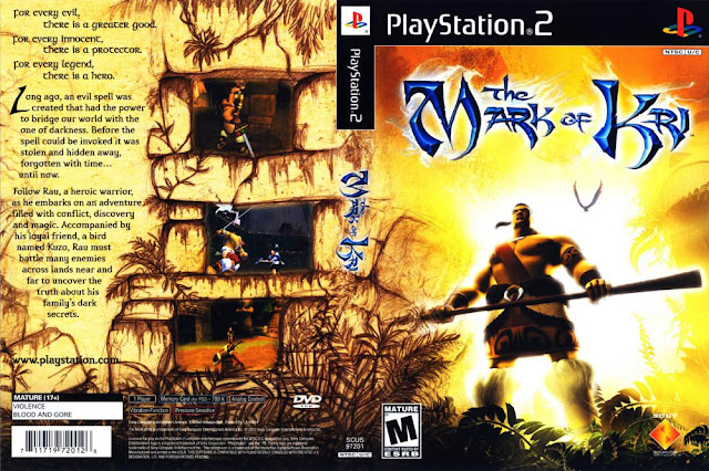Descargar The Mark of Kri ps2 iso NTSC-PAL. Es un 2002 juego de acción y aventura desarrollado por SCE San Diego Studio y publicado por Sony Computer Entertainment en América del Norte y Europa y Capcom en Japón.