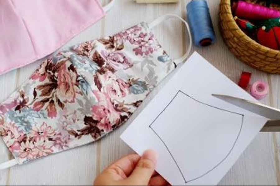 tutorial cara membuat masker sendiri dari kain perca