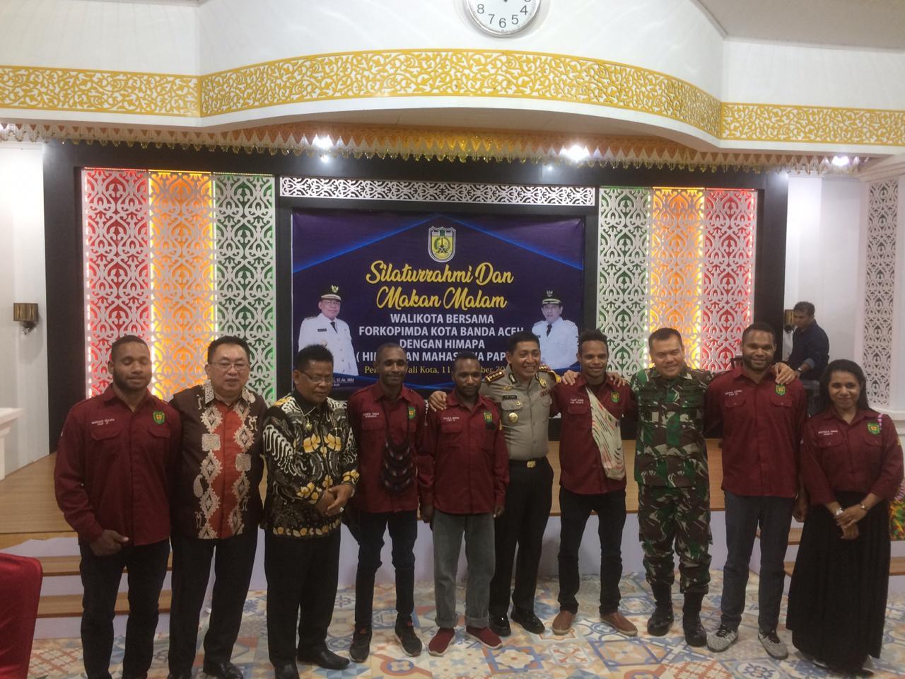 Kapolresta Banda Aceh Hadiri Silaturahmi Dengan Himpunan Mahasiswa Papua