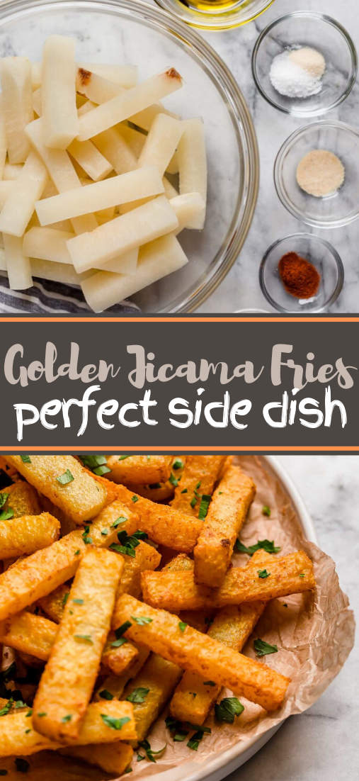 Golden Jicama Fries #food #lunchrecipe #vegan #vegetarianrecipe #easyrecipe