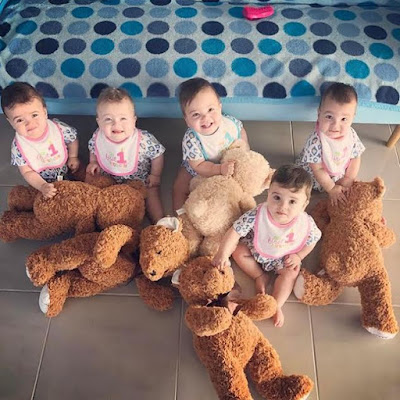, Check out beautiful photos of a mother & her adorable quintuplets, Latest Nigeria News, Daily Devotionals & Celebrity Gossips - Chidispalace