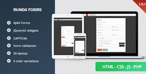 Munda Forms – Clean, Modern, Responsive Web Forms
