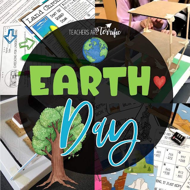 Let's get you ready for Earth Day, or springtime, or any time you are ready to study landforms and the earth. This post includes Escape Rooms, Reading resources, STEM Challenges, and tips for preparing for these events.