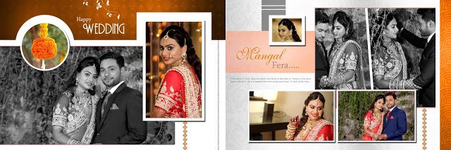 Creative Indian Wedding Album Design PSD Sheets 2020