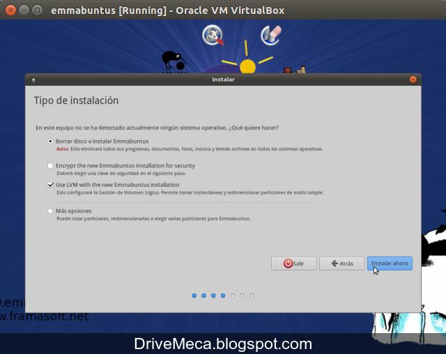DriveMeca instalando Emmabuntus 3 paso a paso