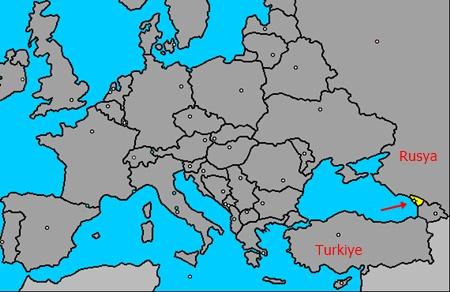 Abhazya Dünya Haritasında Yeri