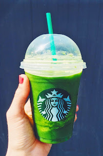 green tea frap with 10 pumps of raspberry