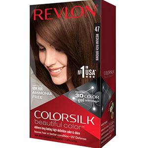 Thuốc nhuộm tóc Revlon colorsilk medium rich brown mã màu 47 của Mỹ