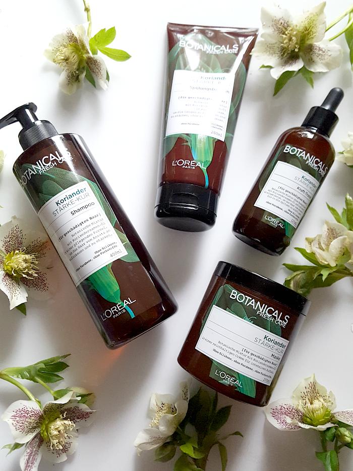 Review: Botanicals Fresh Care - Koriander Stärke-Kur Premium-Haarpflege von L´Oréal in Drogerie