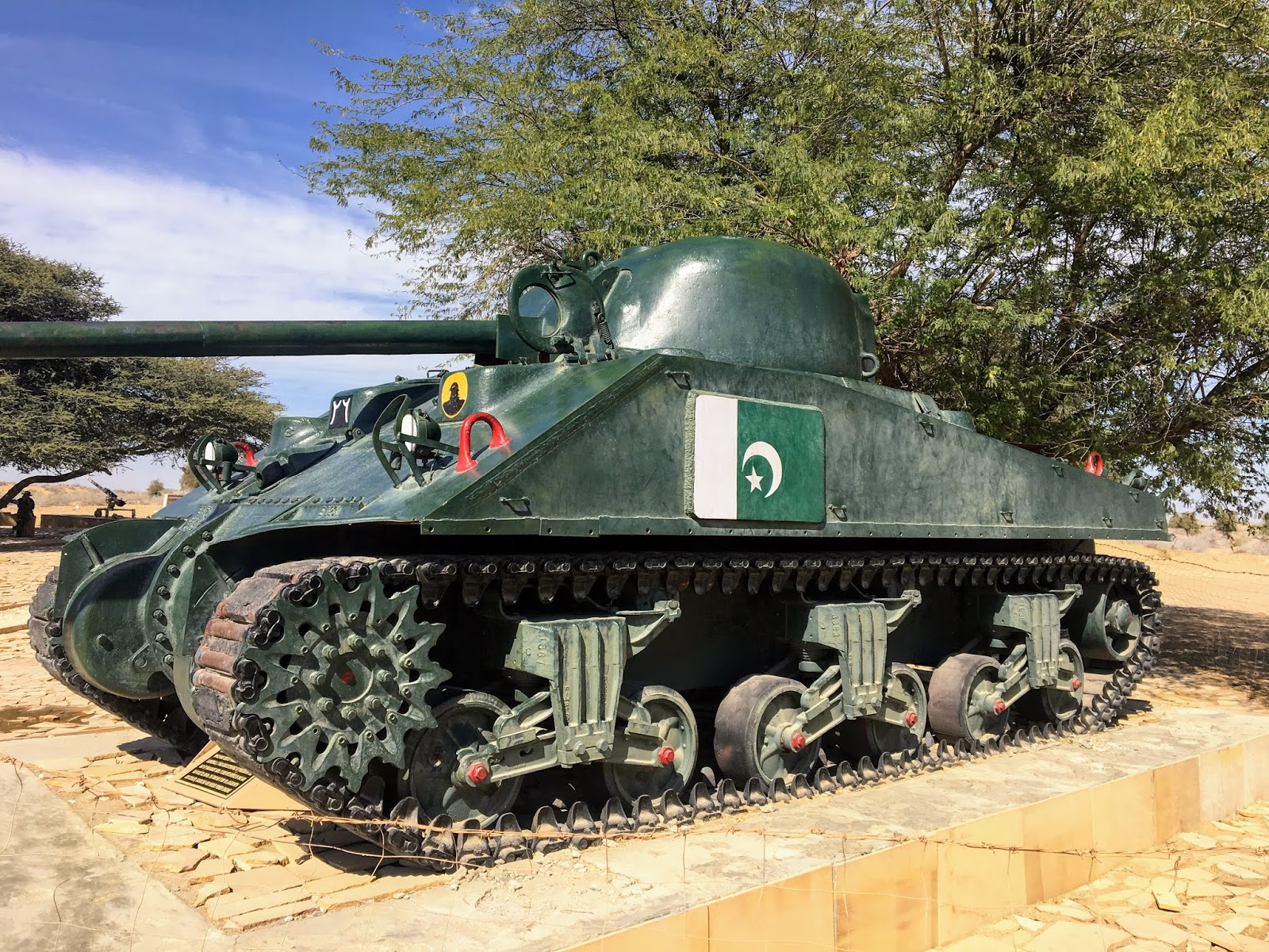 Pakistani tank captured during the Battle of Longewala in 1971, Rajasthan