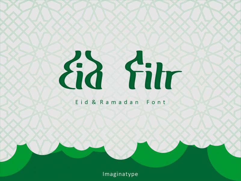 Eid Fitr Font - Free Arabic and Ramadan Typeface