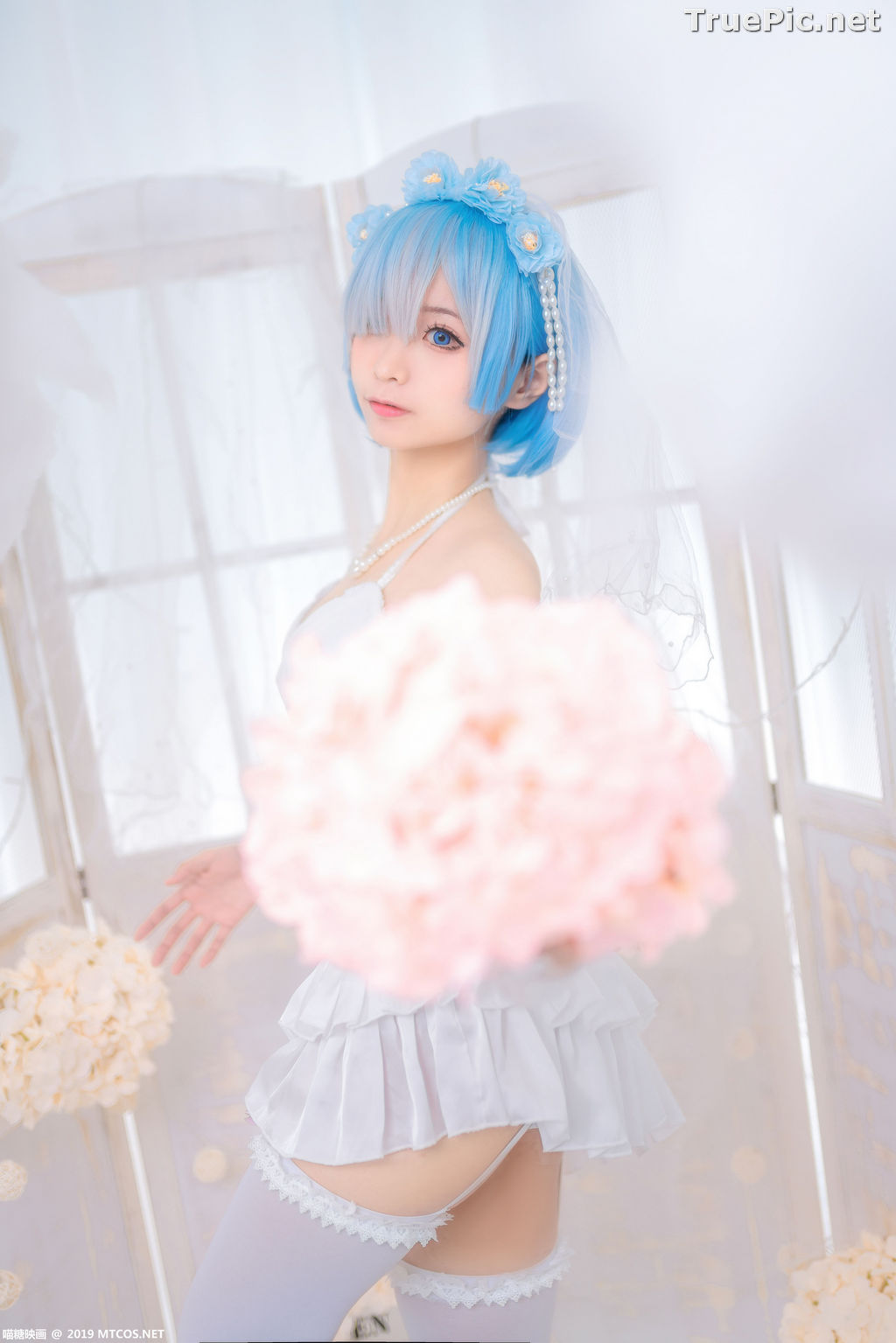 Image [MTCos] 喵糖映画 Vol.029 – Chinese Cute Model – Bride Rem Cosplay - TruePic.net - Picture-1