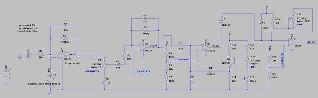 PIR sensor LTspice simulation