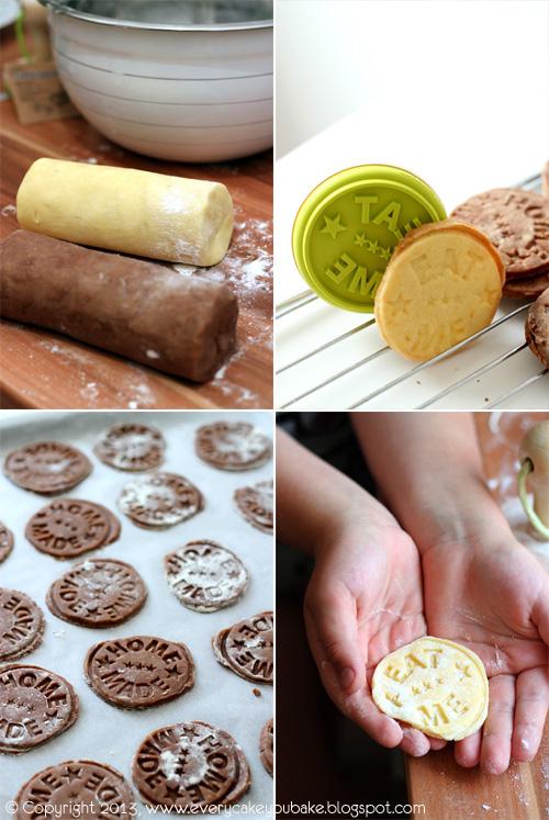 stempelkowe ciastka czekoladowe
