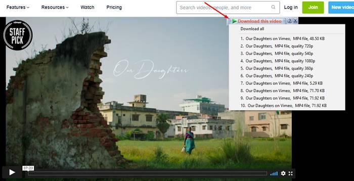 Download Video di Vimeo dengan IDM