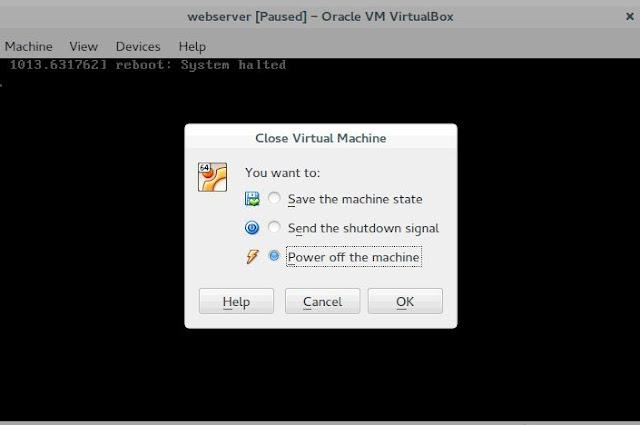 Power off Virtual Box