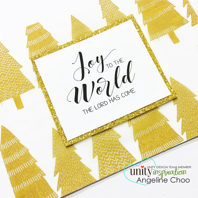 ScrappyScrappy: Gold Vellum Glitter Holiday Cards with Unity Stamp #scrappyscrappy #unitystampco #holiday #christmas #card #cardmaking #papercraft #gold #glitter #vellum #christmastree #christmascard #stamp #stamping #quicktipvideo #youtube #video