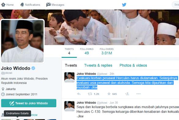 Akun Jokowi Salah Tweet, Pengamat Usulkan Ini