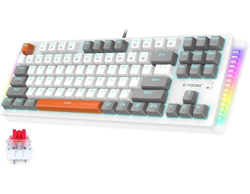 E-YOOSO Red Switches Hot Swappable Wired Gaming Keyboard